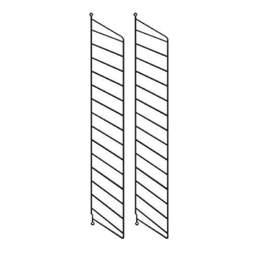 String System Wandleiter 75x20cm, schwarz Wandmontage 75x20cm 2er Set