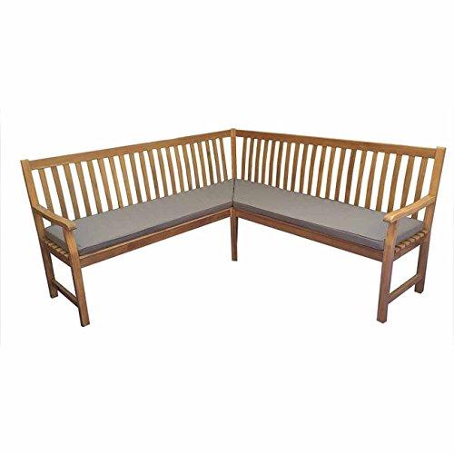 OUTLIV. Gartenbank Holz Proto Novo Eckbank Teak inklusive Kissen Sitzbank Garten Balkon Terrasse Holzbank massiv