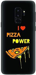 Stylizedd Samsung Galaxy S9 Plus Slim Snap Case Cover Matte Finish - I Love Pizza (Black)