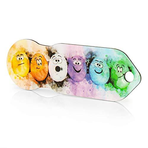 Einkaufswagenlöser Code24 Crazy Eggs, Schlüsselanhänger mit Einkaufschip & Schlüsselfinder, inkl. Registriercode für Schlüsselfundservice, Einkaufswagenchip mit Profiltiefenmesser