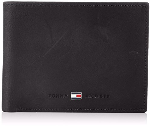 Tommy Hilfiger Herren JOHNSON CC AND COIN POCKET Geldbörsen, Schwarz (BLACK 990), 13x10x2 cm