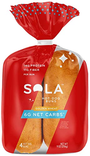 Sola Golden Wheat Hot Dog Buns, Low-Carb &...