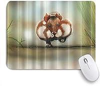 ZOMOY マウスパッド 個性的 おしゃれ 柔軟 かわいい ゴム製裏面 ゲーミングマウスパッド PC ノートパソコン オフィス用 デスクマット 滑り止め 耐久性が良い おもしろいパターン (動物の野生生物を走らせるかわいいリス)