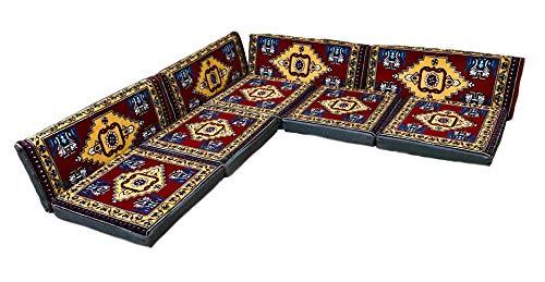 Nesbelle 9 Teilige Set Sark Kösesi Orientalische Sitzecke, Sitzkissen Set