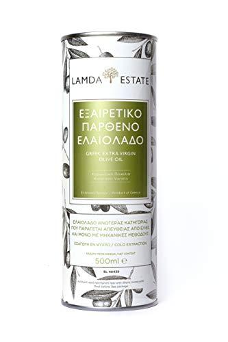 Olivenöl Kaltgepresst   mild, fruchtiges Olivenoel   zum Kochen & Braten   Griechenland   extra virgin   (vergine)   aus handerlesenen Koroneiki-Oliven 500 ml
