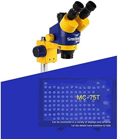 LIMEI-ZEN Microscope Mechanic MC75T Trinocular Max 57% OFF Stereo Zoom 7-45X Fashionable