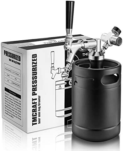 TMCRAFT 64oz Growler Tap System Pressurized Stainless Steel Mini Keg with Cooler Jacket Portable product image