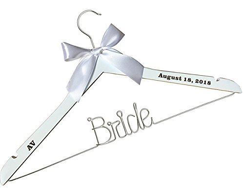VVFOR Wire Hanger Personalized Wedding Hangers with The folower -Custom Personalized Bridal Dress Hanger Gifts for Bride Mother of The Bride
