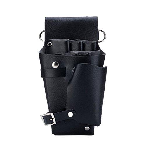 Frcolor Scissor Pouch Holster mit Gürtel Friseur Schere Schere Halter Tasche für Friseure (schwarz)