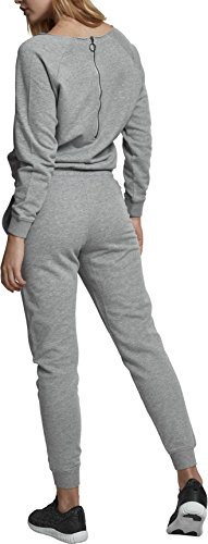 Urban Classics Damen Jumpsuit Ladies Long Sleeve Terry, Grau (Grey 00111) - 2