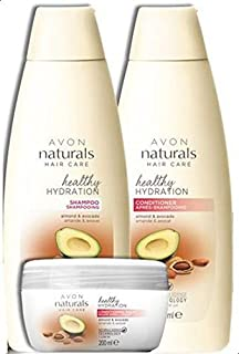 Avon Naturals Almond and Avocado Shampoo, Conditioner and Balm