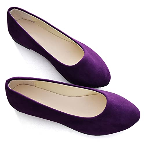 Top 10 best selling list for purple colored flats for women shoes