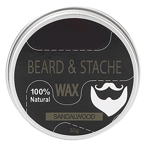 Zhat Crema para Barba, Acondicionador para Barba, 1,1 Oz, Crema para El Cuidado De La Barba, Protege La Barba para Todos Los Tipos De Piel para Hombres(sándalo)