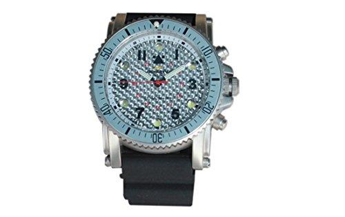 Ledwave Night Eyes II SS LED Taktische Uhr mit Tritium-Tritium-Kapseln, Unisex, Erwachsene, Schwarz, Einheitsgröße