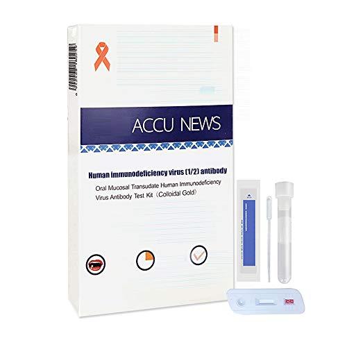 SHANG Infección por VIH, Kit de Prueba en el hogar para verificar rápidamente la combinación de Prueba en el hogar de la Saliva y Las ayudas sanguíneas,1 Blood Test