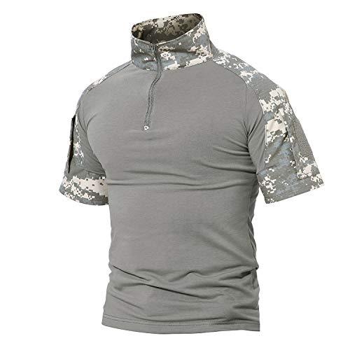 MAGCOMSEN Camo Shirts for Men Military Shirts T Shirts Tactical Shirts Polo Shirts Golf Shirts Casual Shirts Hiking Shirts Camping Shirts