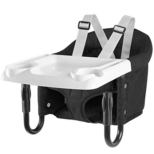 Hook On Chair, Fold-Flat Storage and Tight Fixing Clip on Table High...