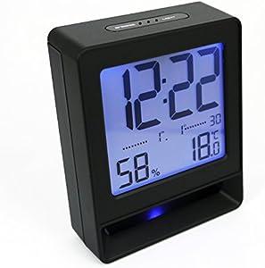 Shuangklei Température Et L'Humidité De Bureau Calendrier Réveil Chambre Caractère Muet Snooze Réveil Numérique Électronique