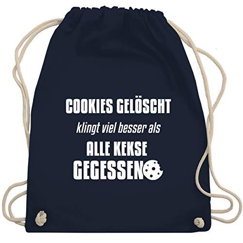 Shirtracer Nerds & Geeks - Cookies gelöscht - Unisize - Navy Blau - Geschenk - WM110 - Turnbeutel und Stoffbeutel aus Baumwolle