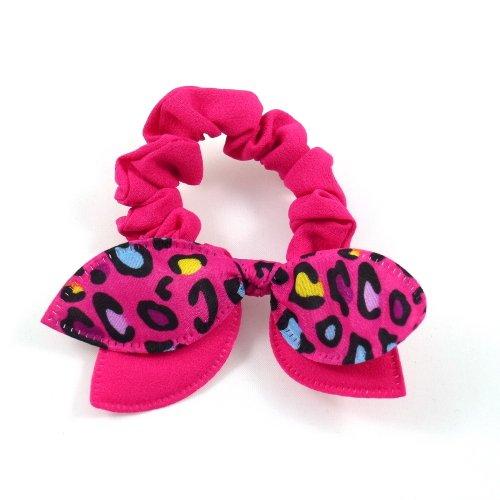 Rougecaramel - Elastique bracelet double nœud - fuchsia