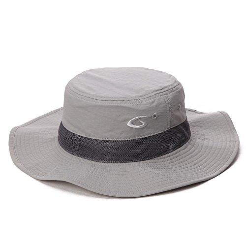 Fancet - Sombrero de sol para caminar, senderismo, pesca, boonie Bush, Primavera-Verano, Hombre, color FT89026_Gris, tamaño Taille unique