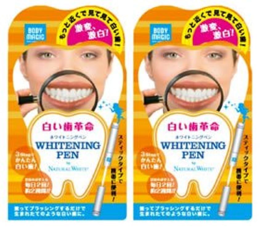 罰する十億死んでいる《セット販売》 ナチュラルホワイト ボディマジック ホワイトニングペン 2個セット 【白い歯革命】 ラピッドホワイトBスティック 【ジェルハミガキ】