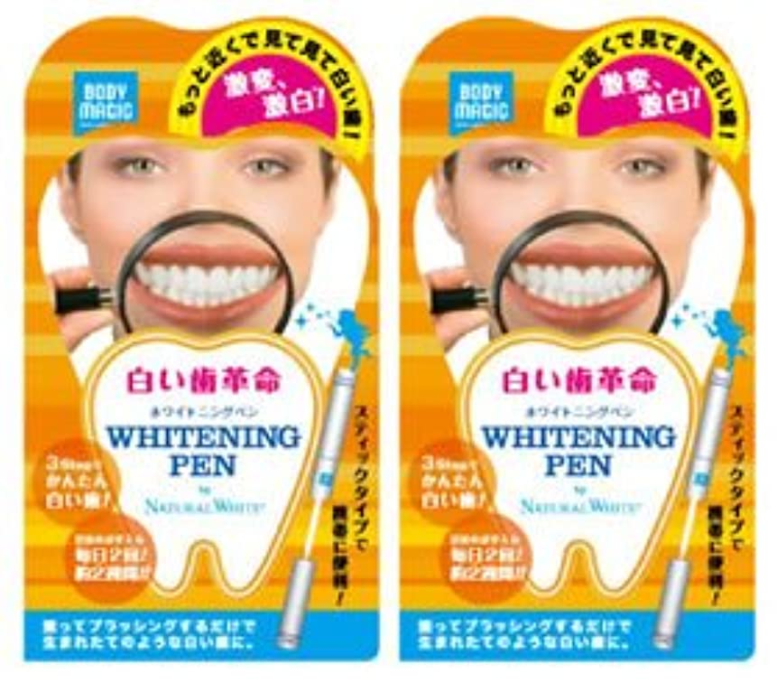 故国カバー耐えられる《セット販売》 ナチュラルホワイト ボディマジック ホワイトニングペン 2個セット 【白い歯革命】 ラピッドホワイトBスティック 【ジェルハミガキ】