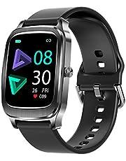 UXD Smartwatch, 1,65 inch fitnesshorloge met stappenteller, fitnesstracker, IP67 waterdicht, sporthorloge met hartslagmeter, fitnesshorloge voor Android iOS mobiele telefoon, smartwatch voor dames en heren