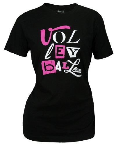 Asics VBT VOLLEYBALL Camiseta de algod¨®n para mujer (X-Large)