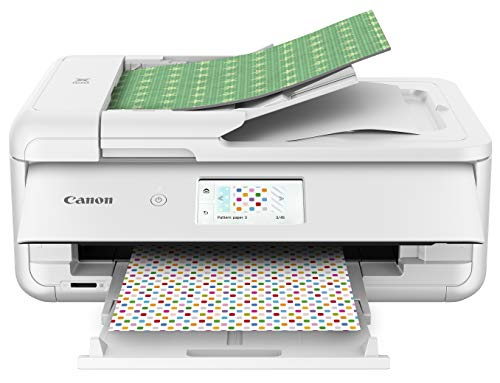Canon TS9521C All-In-One Wireless Crafting Photo Printer, 12X12 Printing, White,...