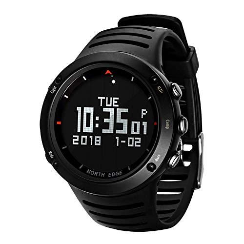 Oolifeng Smartwatch voor heren, polshorloge, waterdicht, 50 m, met weergave van het achterlicht, LED, hoogtemeter, barometer, kompas