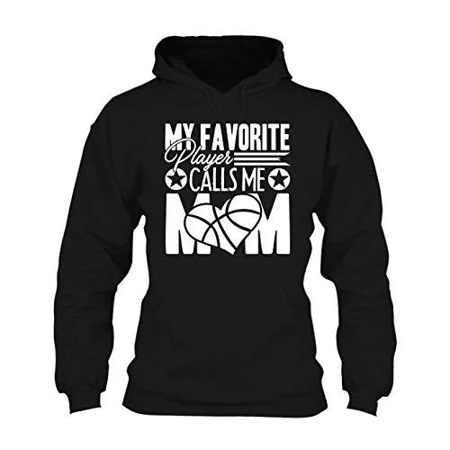 Basketball Mom Hooded Sweatshirt, Long Sleeve Hoodie Black,M