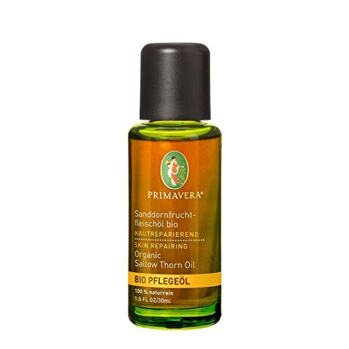 PRIMAVERA Pflegeöl Sanddornfruchtfleischöl bio 30 ml - Naturkosmetik, Pflanzenöl, Hautöl - stärkend, beruhigend für trockene, gerötete Haut - vegan