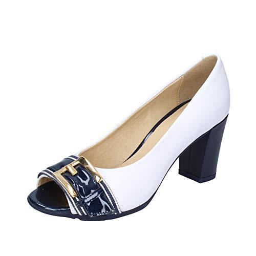 GEOX Zapatos de salón Mujer Cuero Blanco 40 EU