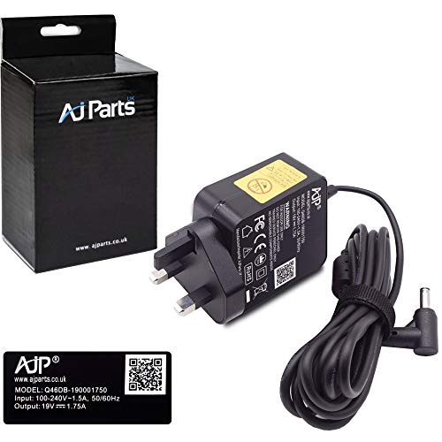 AJPARTS UK AJP New Compatible with ASUS X200C TP300 TP300L Laptop 33W Adapter Charger Power Supply with 4.0mm x 1.35mm Pin Size Wall Plug Adaptor PSU