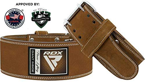 Authentisch RDX Gewichthebergürtel Nubuk Leder Kraft Gewichtheben Strap Rückenstütze DE - 2