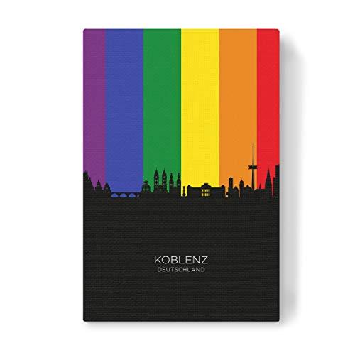 artboxONE Leinwand 60x40 cm Städte Koblenz Germany Skyline Pride von Michael Tompsett