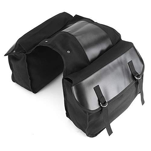 Negro 38 * 13 * 28.6cm Accesorios Mochila Motocicleta Impermeable del Bolso de la Motocicleta 1 Silla Conjunto de Motos Lado de Mano Pannier Paquete del Bolso del Equipaje