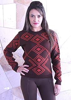 Suéter Feminino em Tricot com Desenho Geométrico Ana Gonçalves C0538