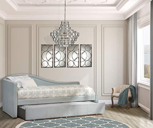 Hillsdale Furniture Olivia - Sofá Cama con Cama Nido Doble, Color Azul