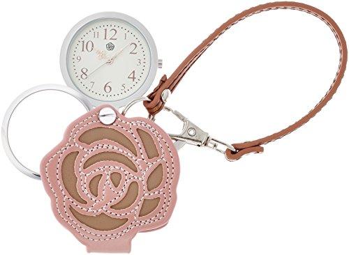 [フィールドワーク] 懐中時計 アナログ バラ バッグチャーム 時計 ルーペ 付き LW035-1 レディース