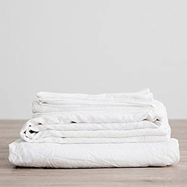 Lausonhouse Luxurious 100% Pure French Linen Sheet Set - Full