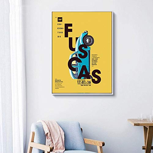 NSRJDSYT Modern Colorful Letter Canvas Paintings Poster Immagini Wall Art Canvas per Soggiorno e Camera dei Bambini Decorazione Senza cornice-50x75cm Senza Telaio