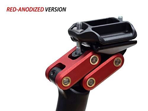 Redshift 2-Positionen-Sattelstütze, Aluminium (27,2mm x 350mm), rot