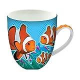 Animug - Pesce Pagliaccio di Deluxebase. Tazza grande in Ceramica da 450 ml. La tazza pesce pagliaccio è un'ottima aggiunta alle tue tazze particolari o può essere un regalo carino e divertente.