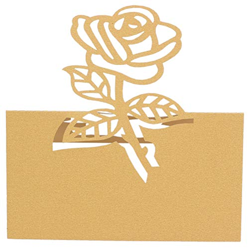 Xigeapg 60x Rose Papier Hochzeit Tisch Nummern Tisch Karte Begleiten Namen Karten FüR Hochzeit Dekoration Gold