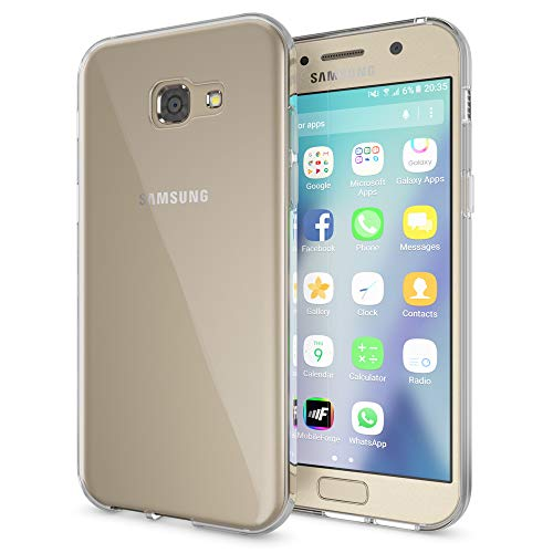 NALIA Funda Carcasa para Samsung Galaxy A5 2017, Protectora Movil TPU Silicona Ultra-Fina Gel Transparente, Cubierta Goma Bumper Cover Case Clear para Samsung A5 2017 - Transparente
