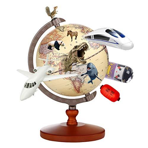 地球儀 子供 AR しゃべる地球儀 球径13cm 日本語 3Dで学べる LEDライト付き 3WAY 知育玩具 ベッドサイドランプ 行政タイプ スケール付き 回転可能 真珠フィルム 雰囲気が良い コンパクト 防水性 先生おすすめ小学生の地球儀 子供 新入学の