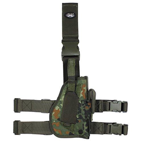 MFH Pistolenbeinholster 30725A Bein- und Gürtelbefestigung Rechts (Flecktarn)