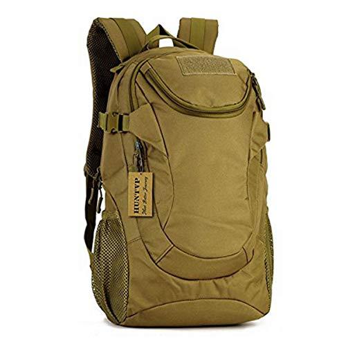 Huntvp Mochila de Asalto 25L Militar Táctical Gran Mochila de Nylon Impermeable para Senderismo Caza Camping, Color Marrón